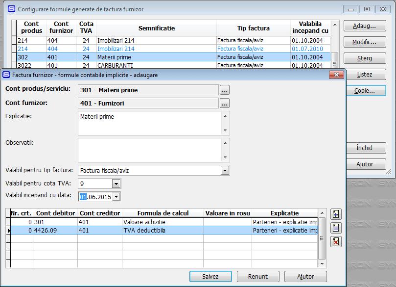 Modificare Synchron ERP pentru TVA 9% - pas 2