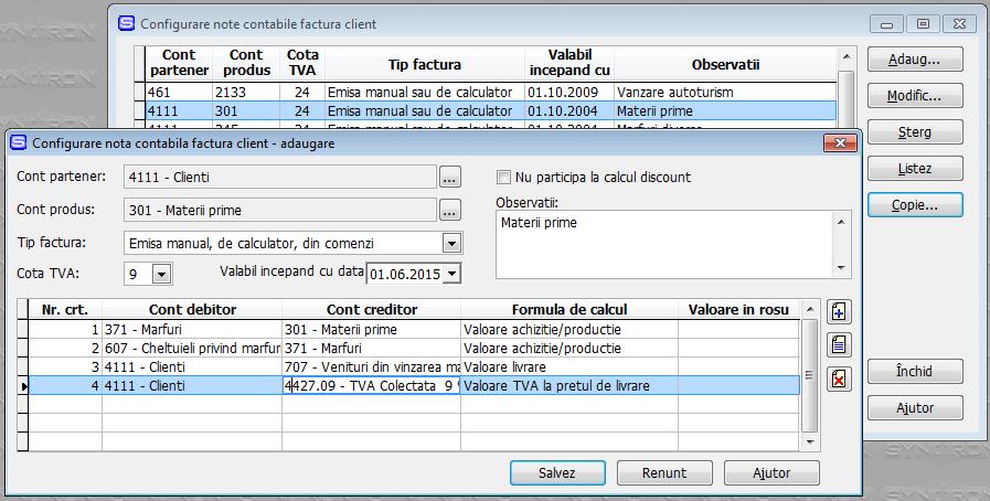 Modificare Synchron ERP pentru TVA 9% - pas 3