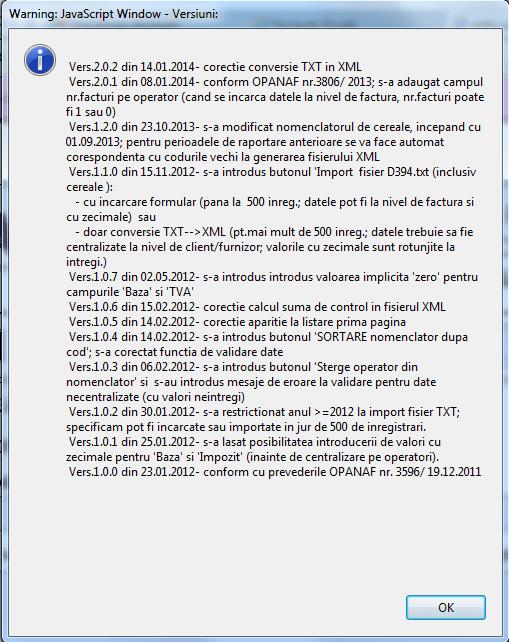 declaratia 394 ecran 0