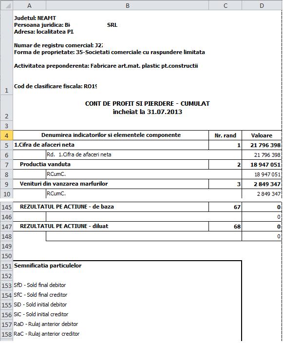 culegere rapoarte 5 bilant