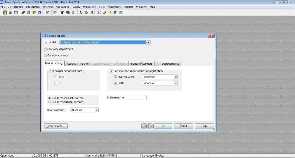Rapoarte SSTranslate pentru program contabilitate